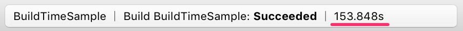Xcode上にBuild時間が表示される