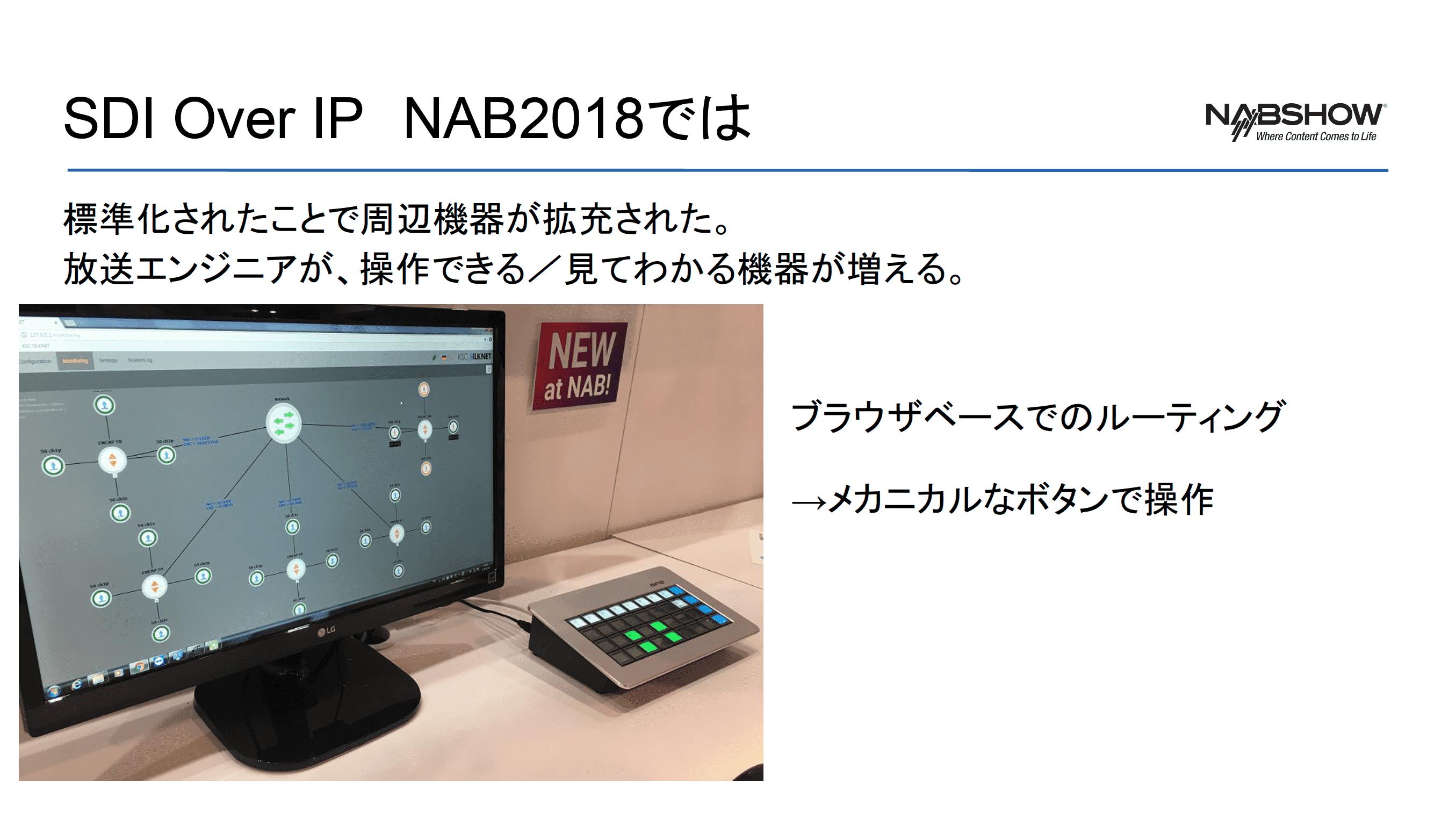 放送エンジニア・フレンドリーに UI に物理ボタンを使った SDI over IP 対応機器を紹介したスライド