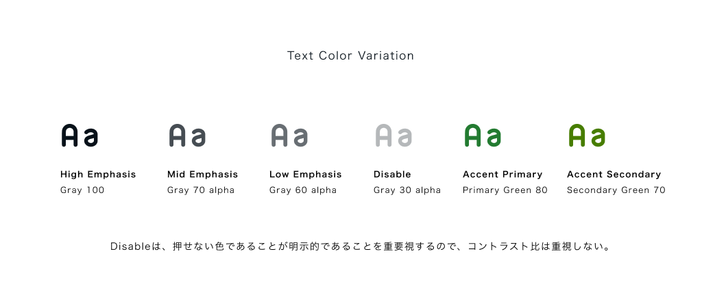 Text Color Variation