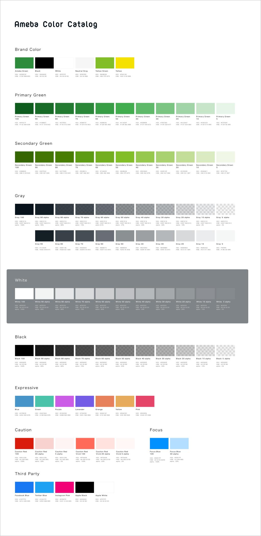 Ameba Color Catalog