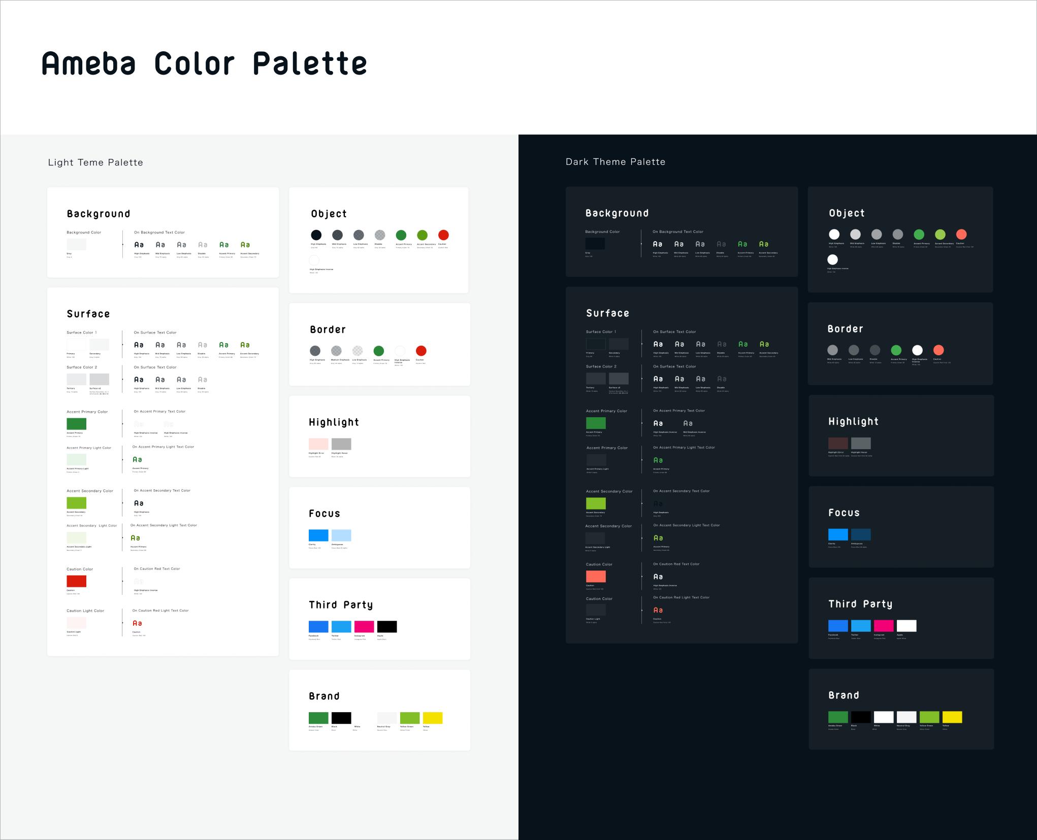 Ameba Color Palette