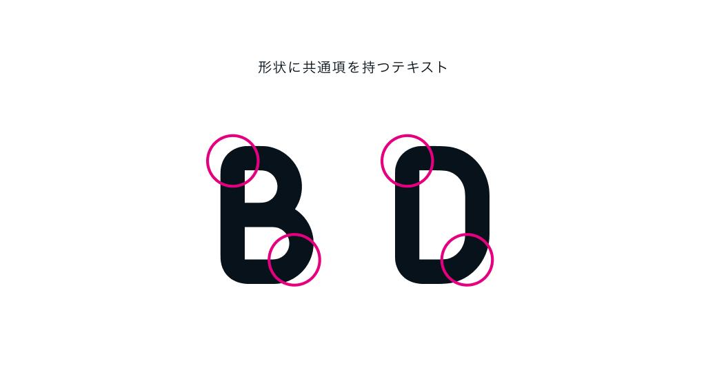 BやDは角のところが形状に共通項を持つ